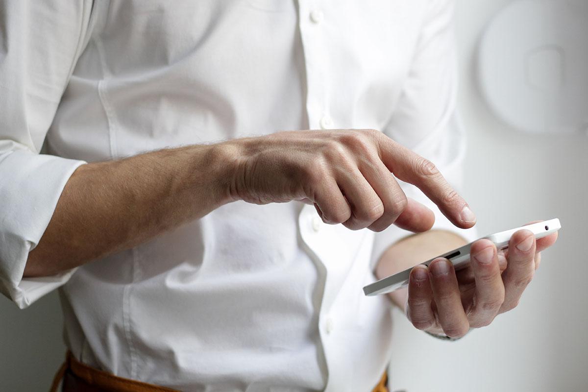 man using phone 2